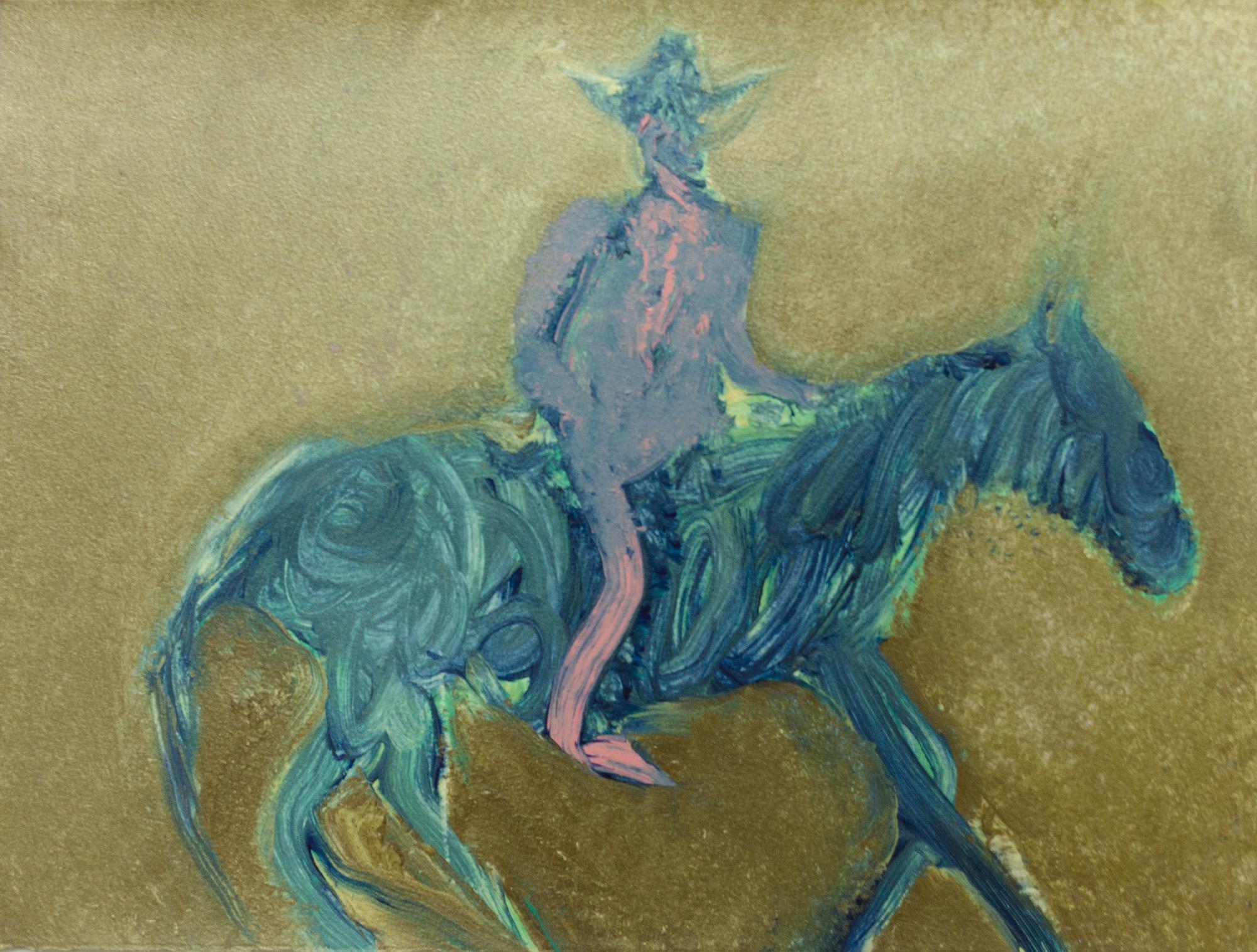 Rhys Lee, Riders, 2016, Acrylic on paper, 28 x 38cm, $700-5.jpg
