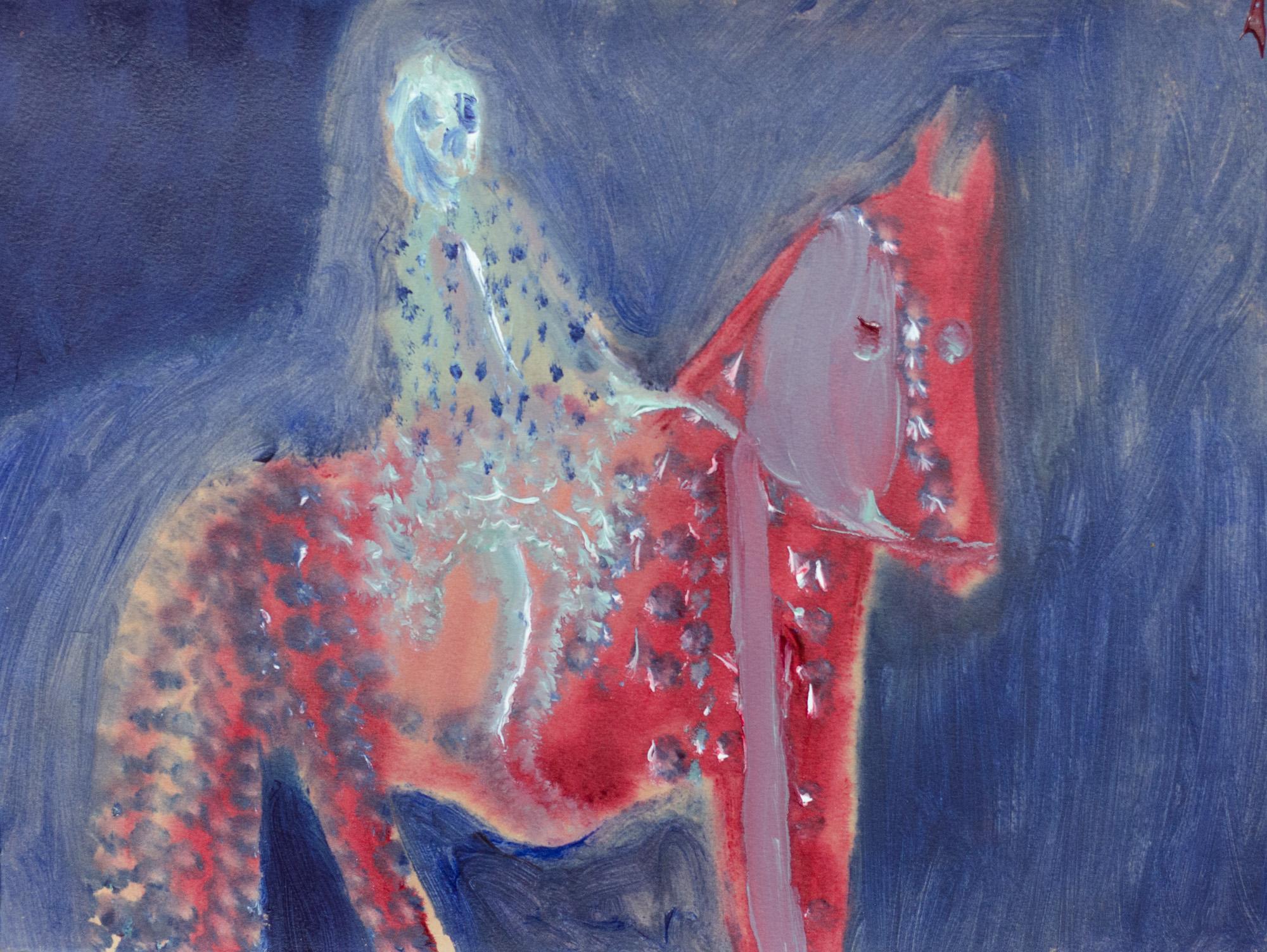 Rhys Lee, Riders, 2016, Acrylic on paper, 28 x 38cm, $700-9.jpg