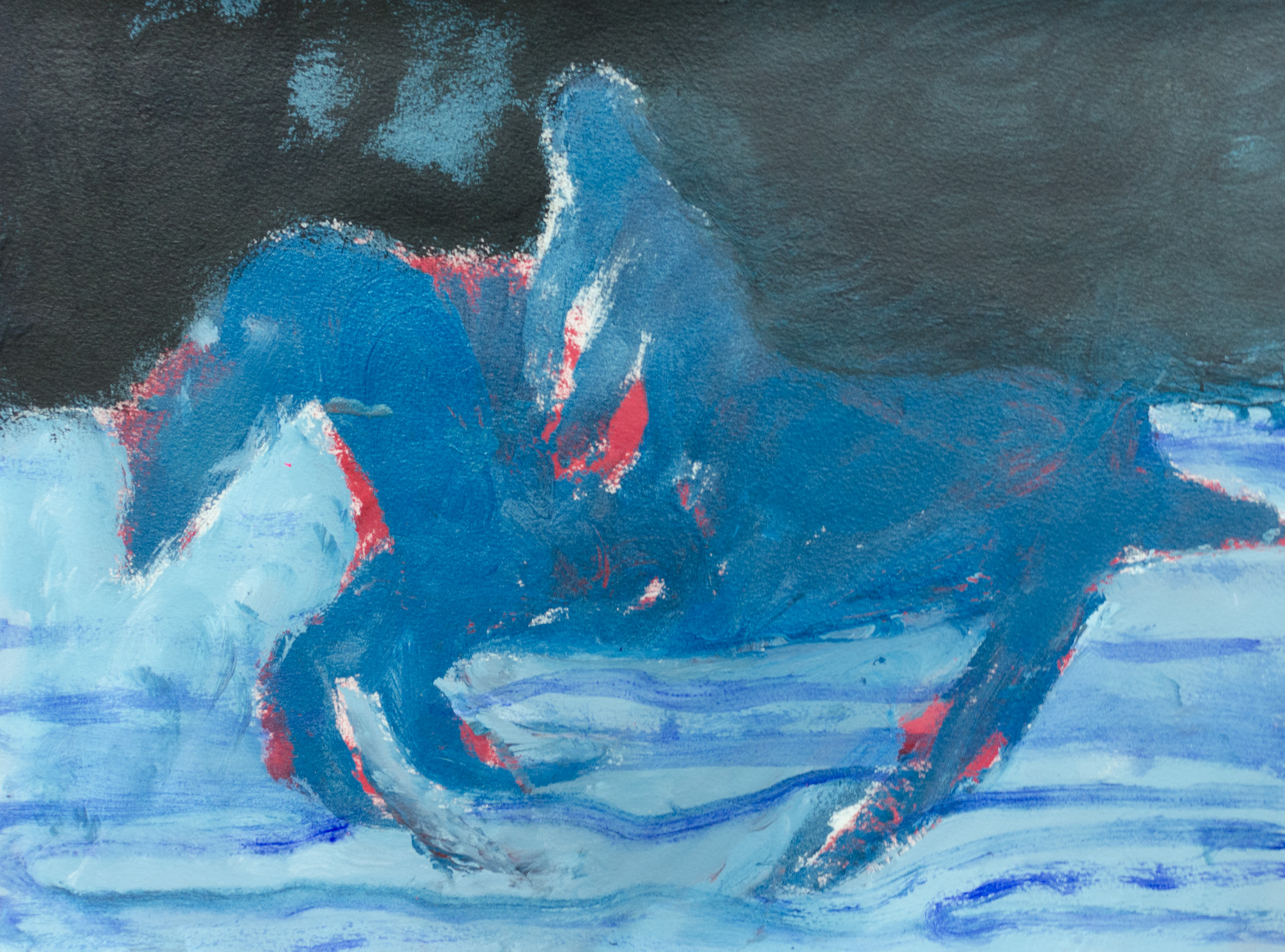 Rhys Lee, Riders, 2016, Acrylic on paper, 28 x 38cm, $700-10.jpg