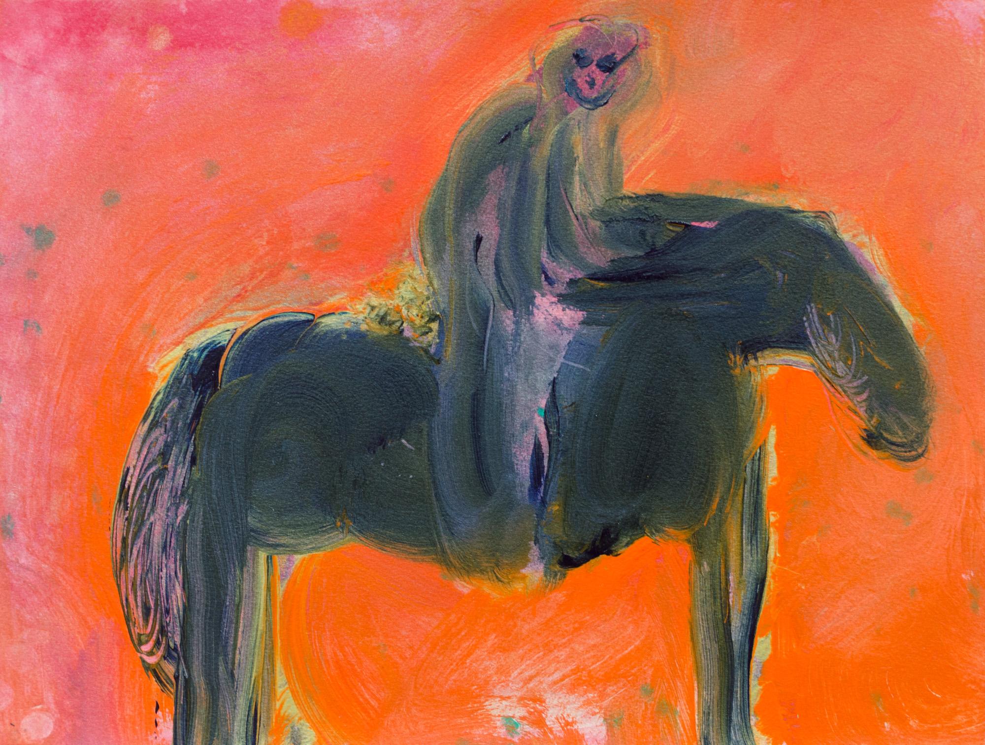 Rhys Lee, Riders, 2016, Acrylic on paper, 28 x 38cm, $700-11.jpg
