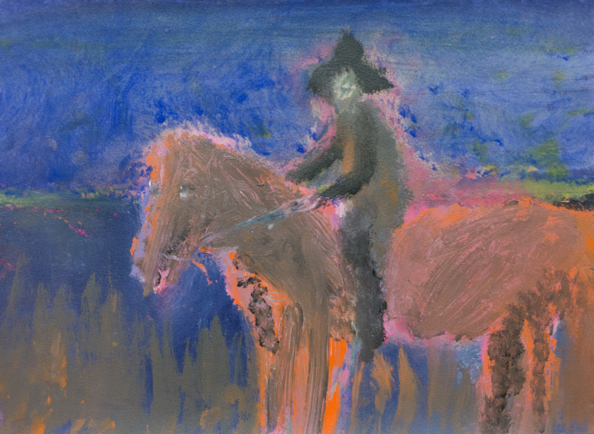 Rhys Lee, Riders, 2016, Acrylic on paper, 28 x 38cm, $700-12.jpg
