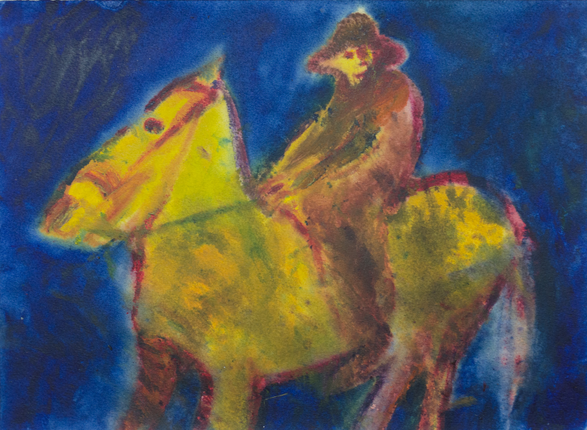 Rhys Lee, Riders, 2016, Acrylic on paper, 28 x 38cm, $700-15.jpg