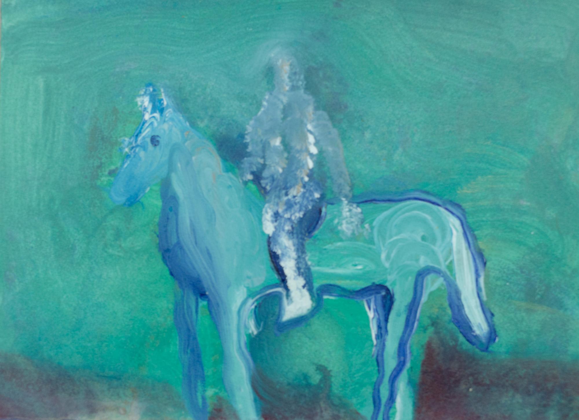 Rhys Lee, Riders, 2016, Acrylic on paper, 28 x 38cm, $700-19.jpg