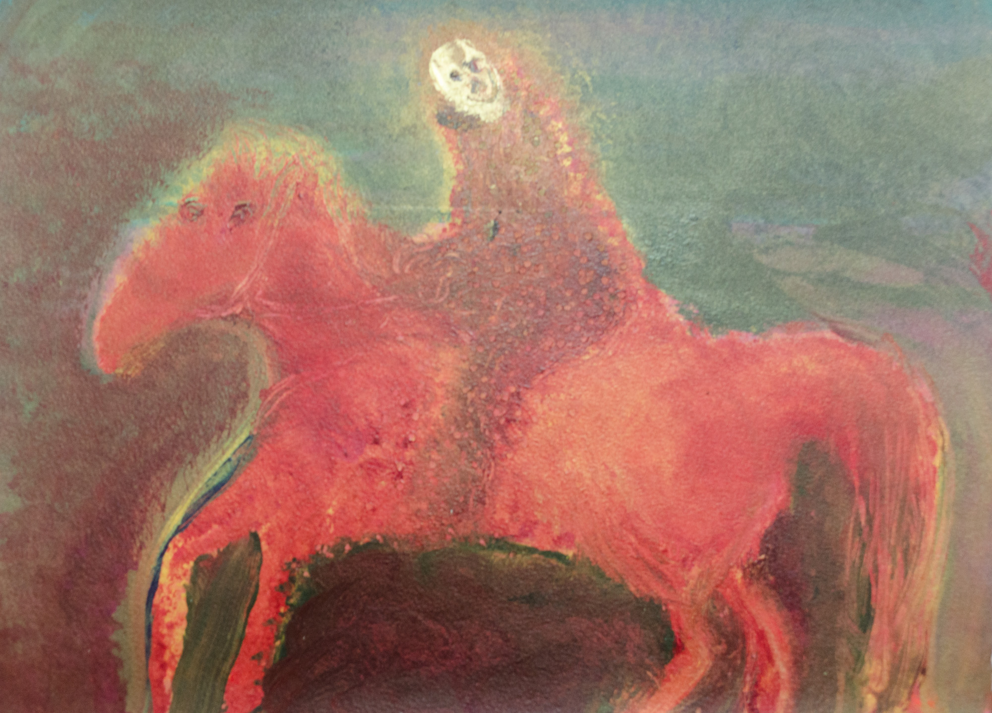 Rhys Lee, Riders, 2016, Acrylic on paper, 28 x 38cm, $700-20.jpg