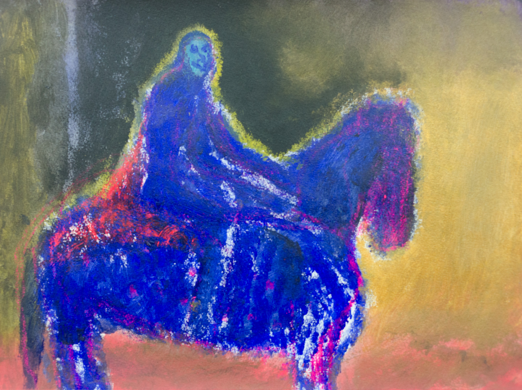 Rhys Lee, Riders, 2016, Acrylic on paper, 28 x 38cm, $700-28.jpg
