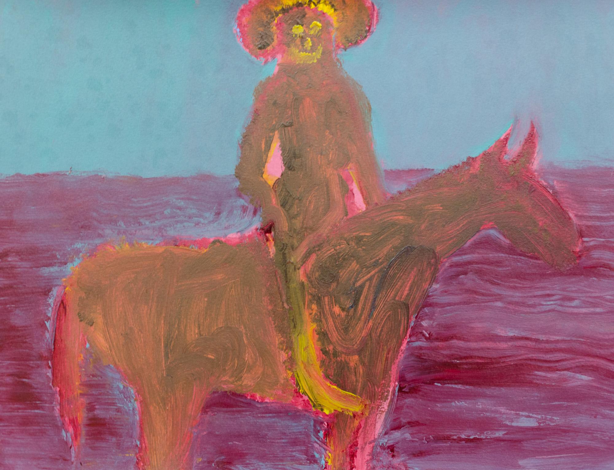 Rhys Lee, Riders, 2016, Acrylic on paper, 28 x 38cm, $700-30.jpg