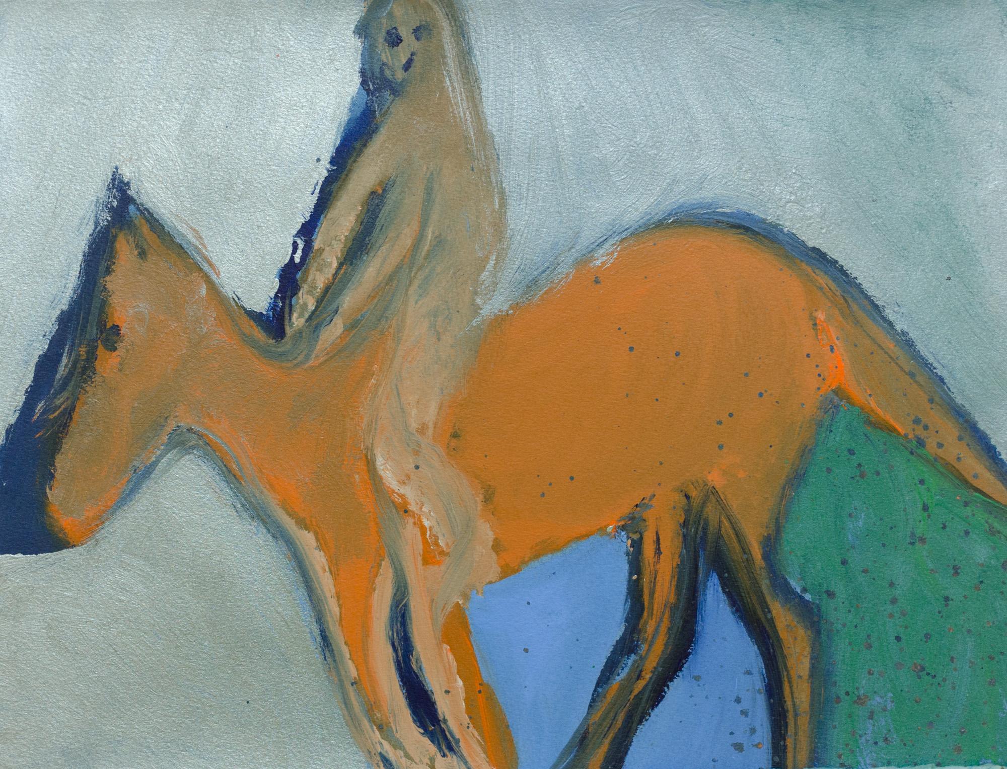 Rhys Lee, Riders, 2016, Acrylic on paper, 28 x 38cm, $700-33.jpg
