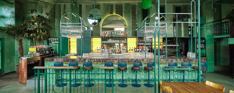 Bar Botanique  in Amsterdam, designed by Studio Modijefsky. Photo: Maarten Willemstein