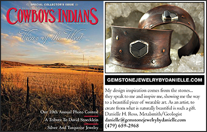 Cowboys & Indians Magazine, February/March 2015 Garnet Gemstone Copper Cuff