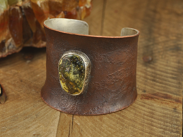 Damele Turquoise Copper & Fine Silver Cuff