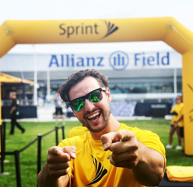 I'm back baby!!! Pleasure kicking off my first week back in Minneapolis-Saint Paul working for the GoldCup at our brand new @allianzfield @allianz for @sprint thanks @outloudmarketing Go team America! Great game. #winning