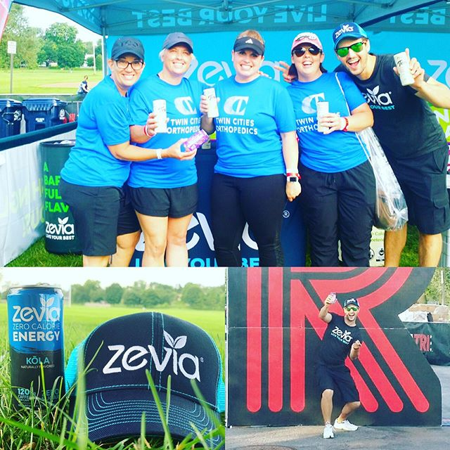 Sporting #zevia #zeviasoda today @lifetimetri love this event! Love this product. Come stop by the tent if you're nearby.