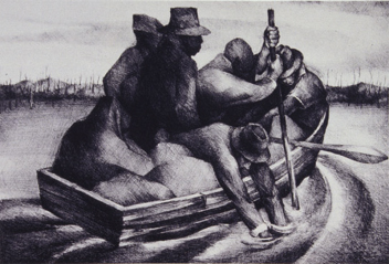 Figure 2. Refugees (AKA People in a Boat; Five Men in a Boat)