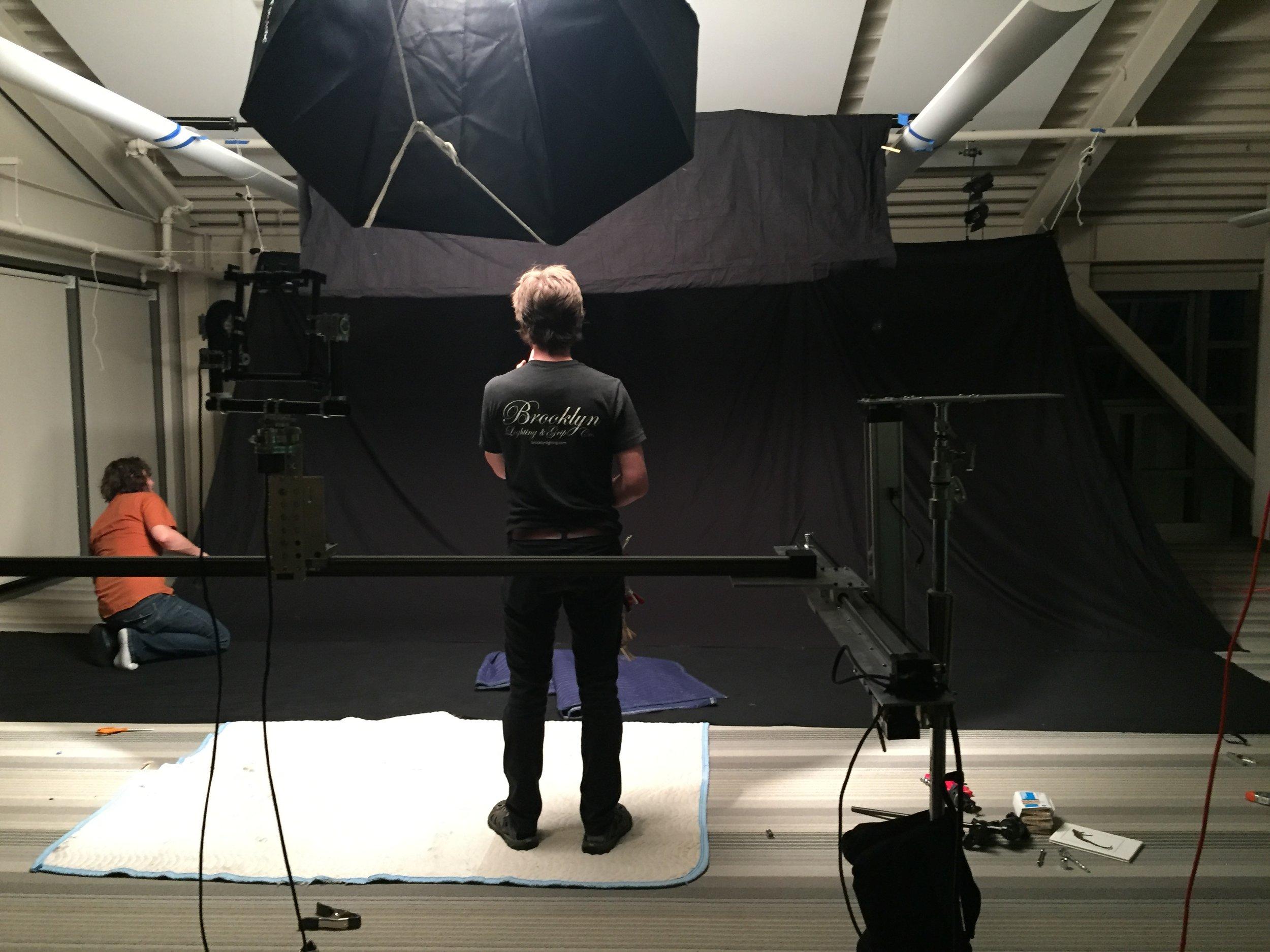 Japhy and Brendan On Set