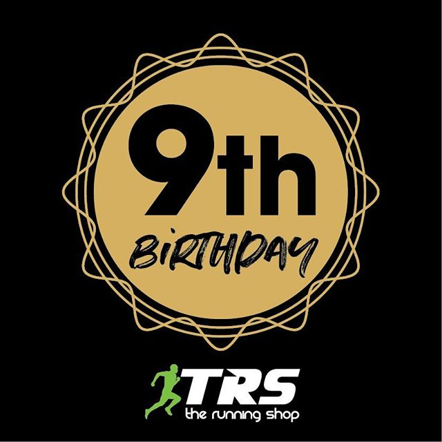 The Running Shop turns 9 this week .. come in and celebrate with a Birthday Sale . #therunningshop #trsburleigh #9thBirthday #BirthdaySale