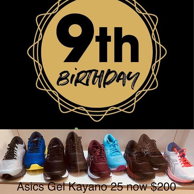 Save $50 on the Asics Gel Kayano 25 #BirthdaySale #9thBirthday #trsburleigh #therunningshop #asicskayano