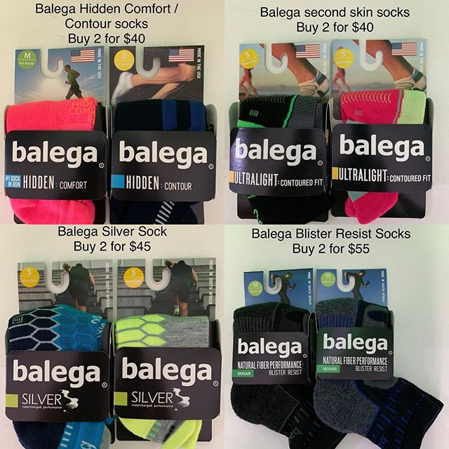 Nothing like a new sock feel with a new pair of shoes . Balega socks ,one of the leaders in technical running socks .  #BirthdaySale #9thBirthday #trsburleigh #therunningshop #balega