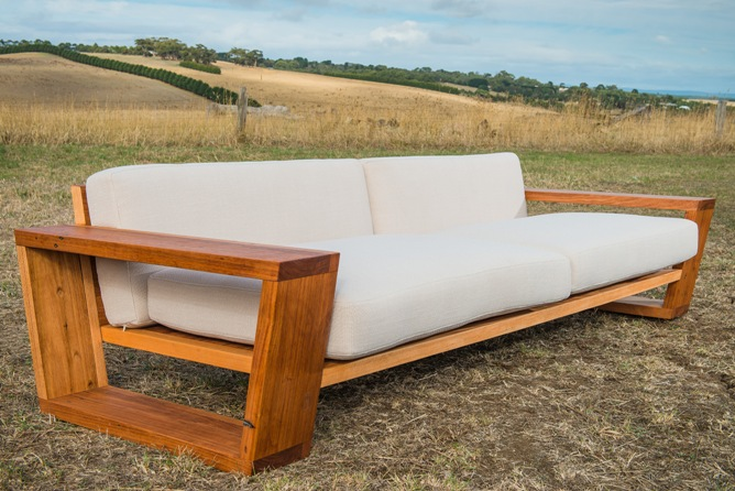 custom recycled timber couch sydney