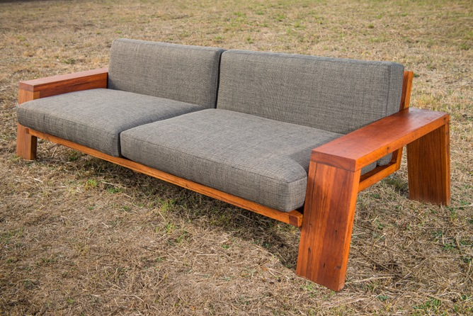 custom timber couch
