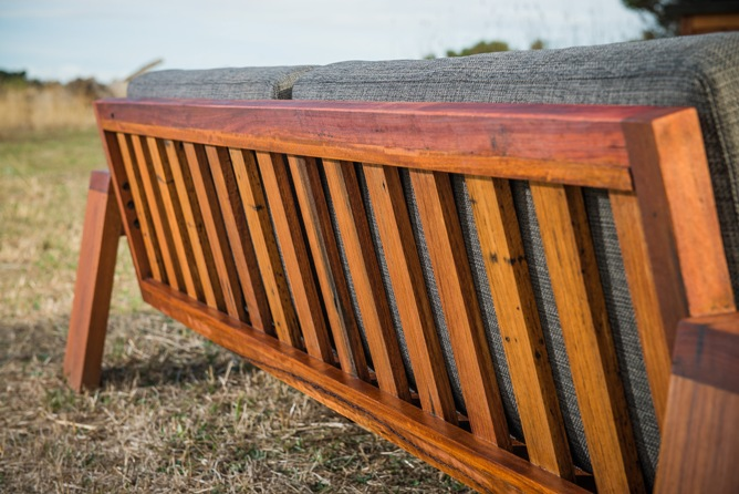 jarrah timber couch