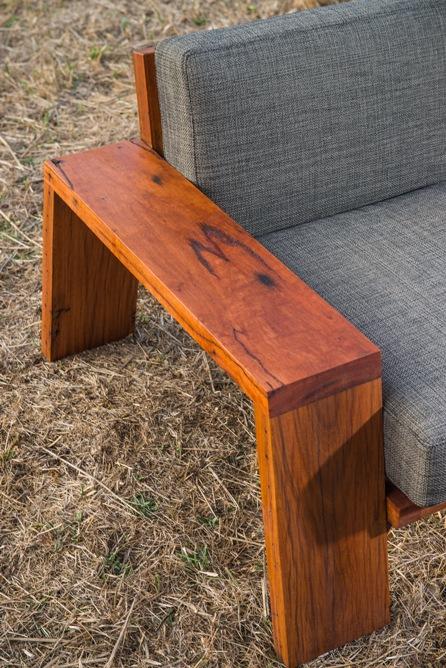 custom timber sofa