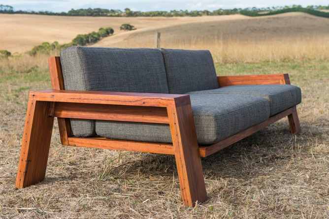 outdoor timber couch