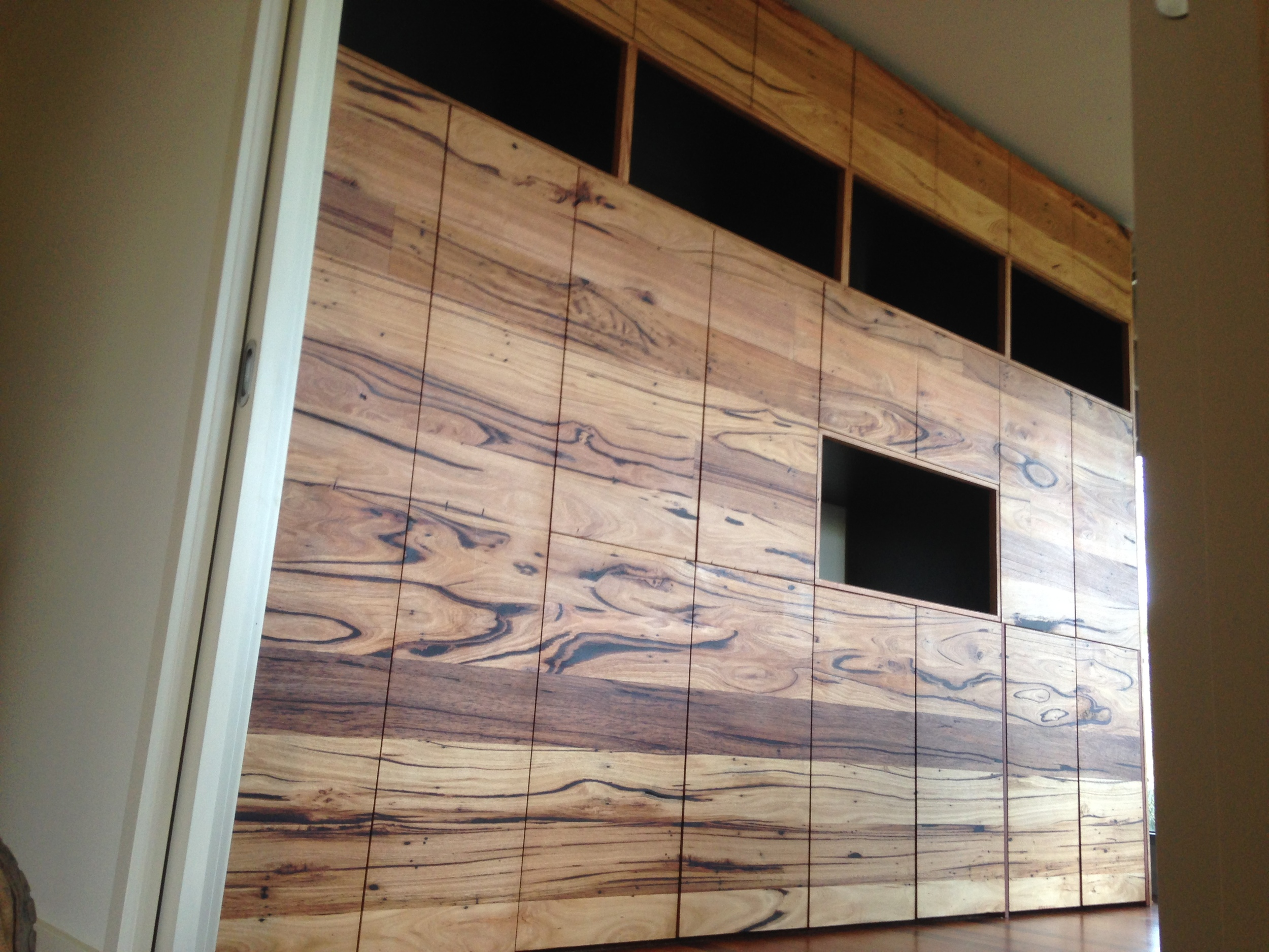 In built cabinetry solid timber