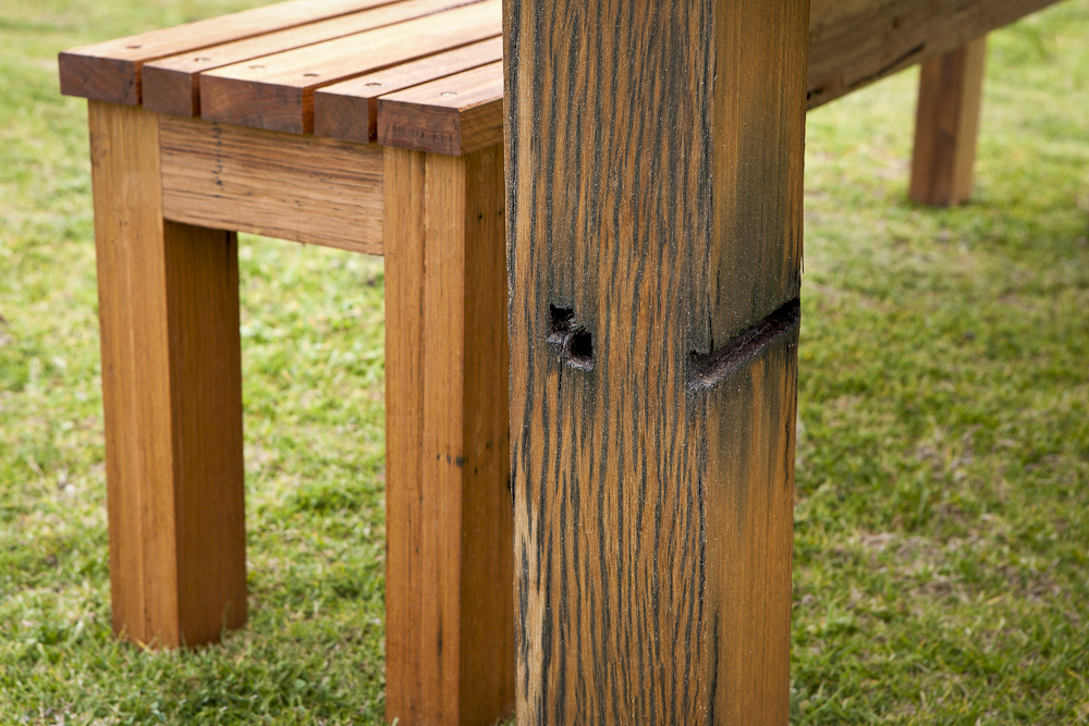 Solid recycled Blackbutt timber legs