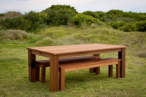 Modern Recycled Timber Outdoor Dining Tables