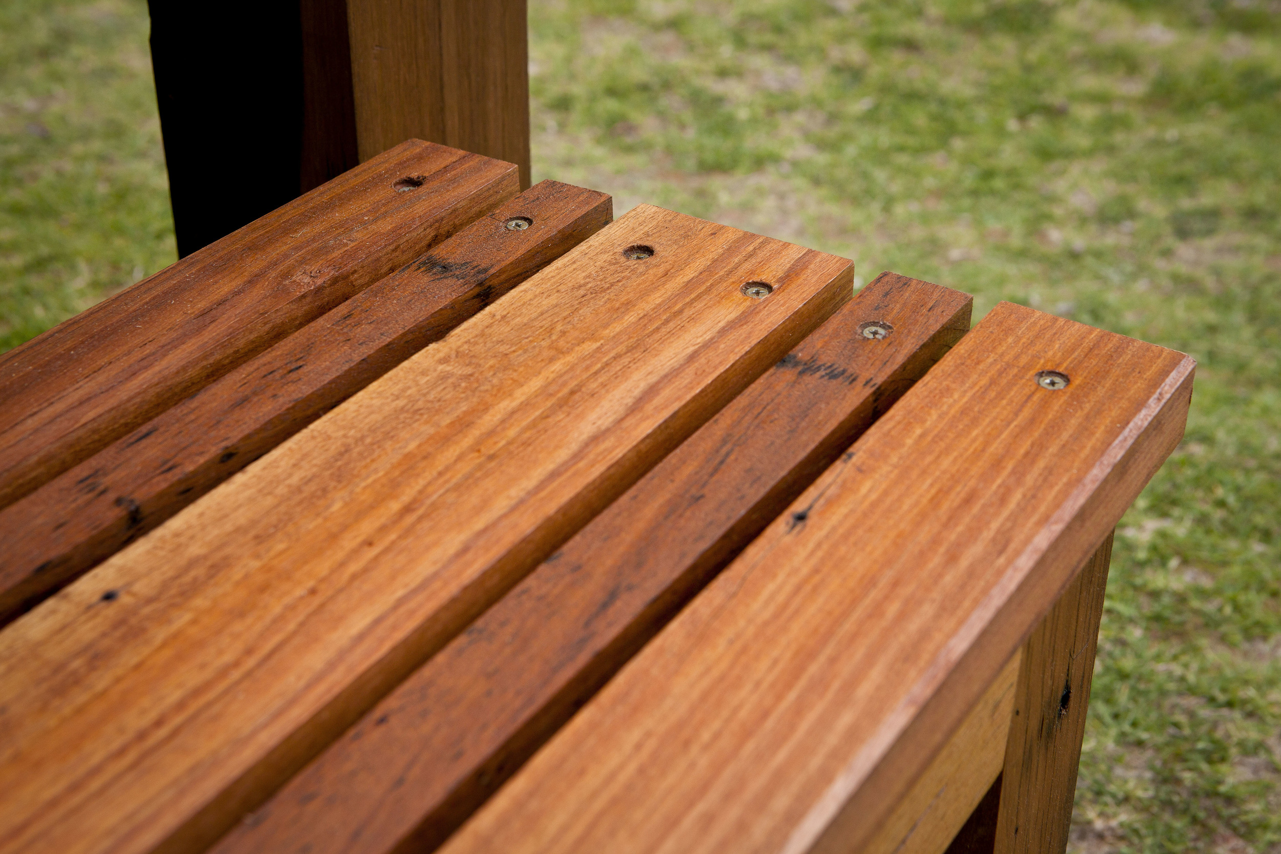 Recycled Victorian Ash bench seat