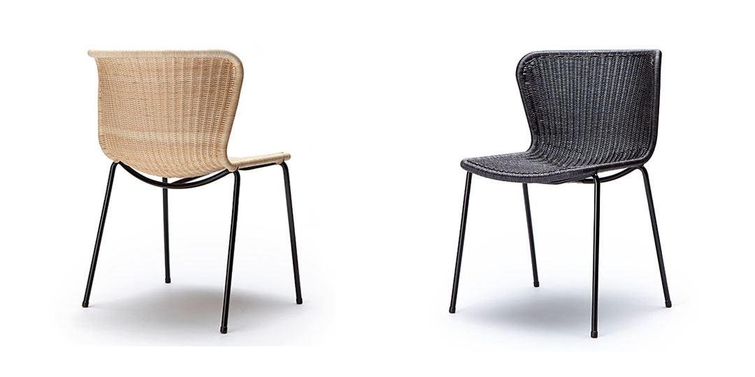 contemporary rattan dining chair