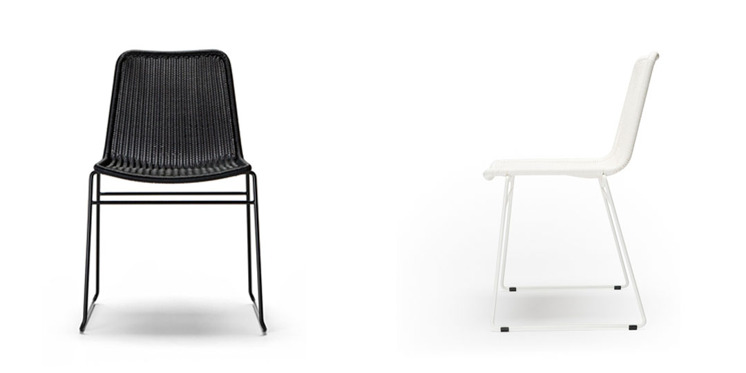 Metal frame outdoor chair