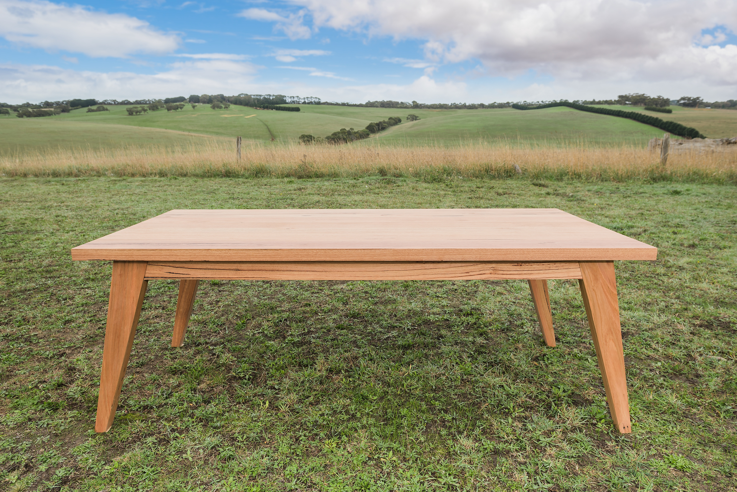 Simple handmade timber table