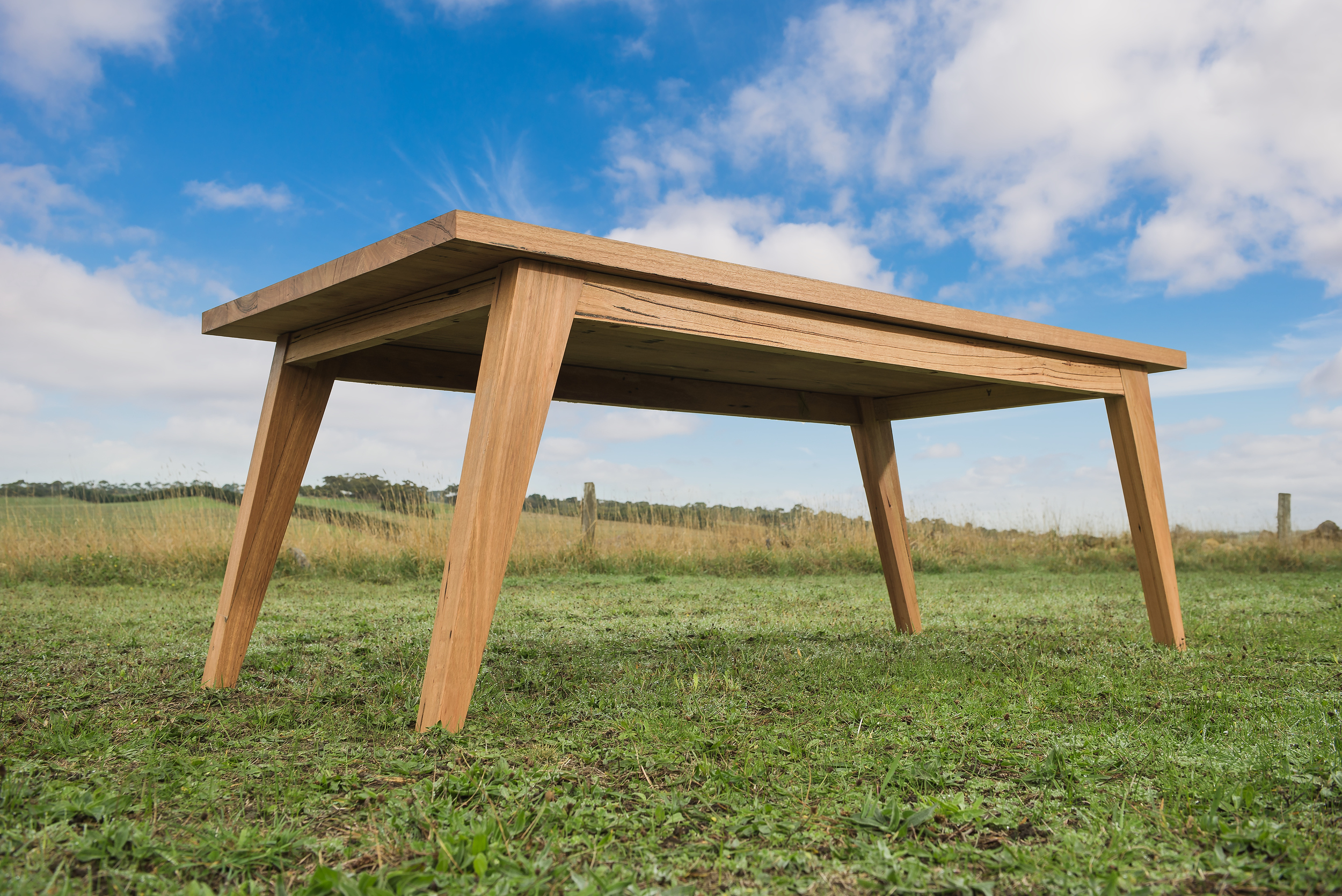 Sustainably harvested hardwood table
