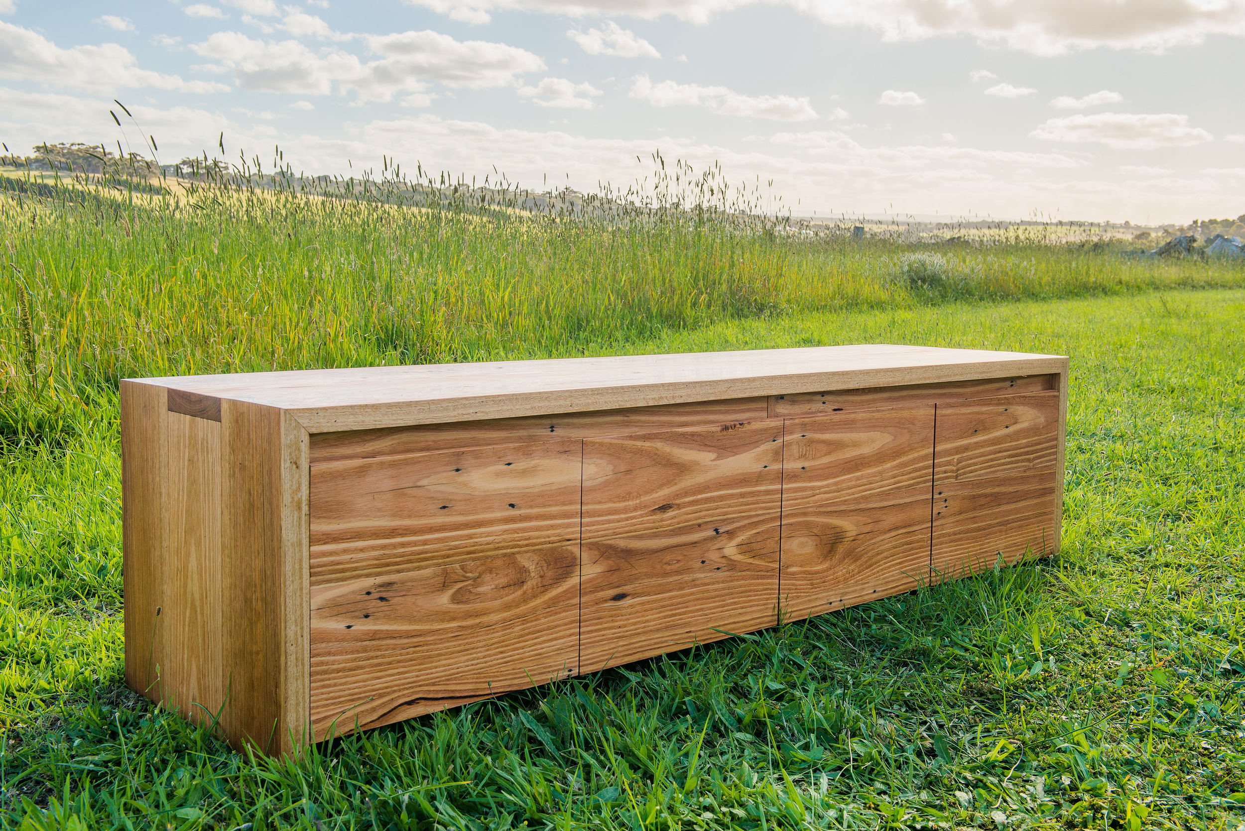 modern timber tv unit