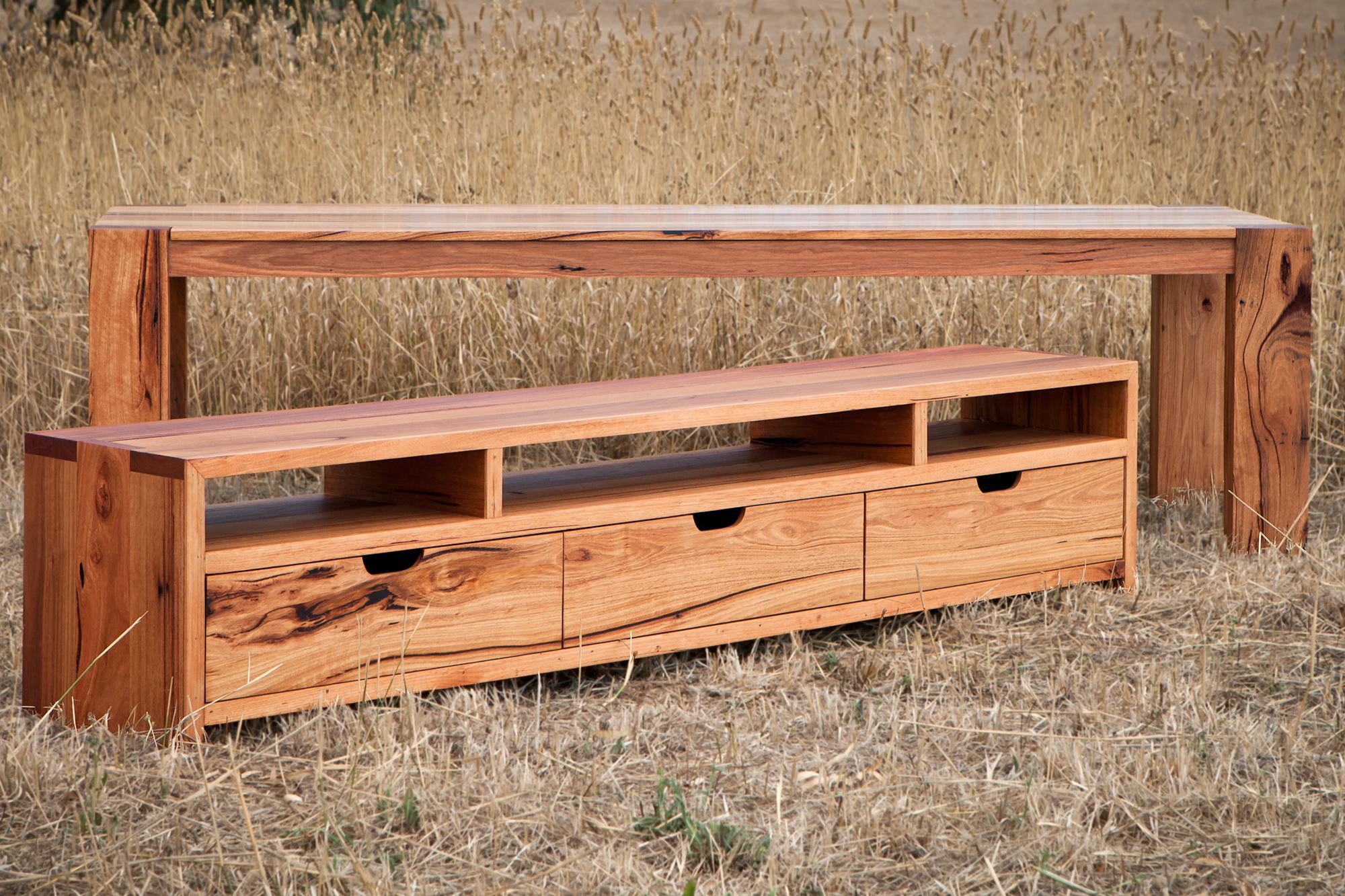 bespoke timber tv unit