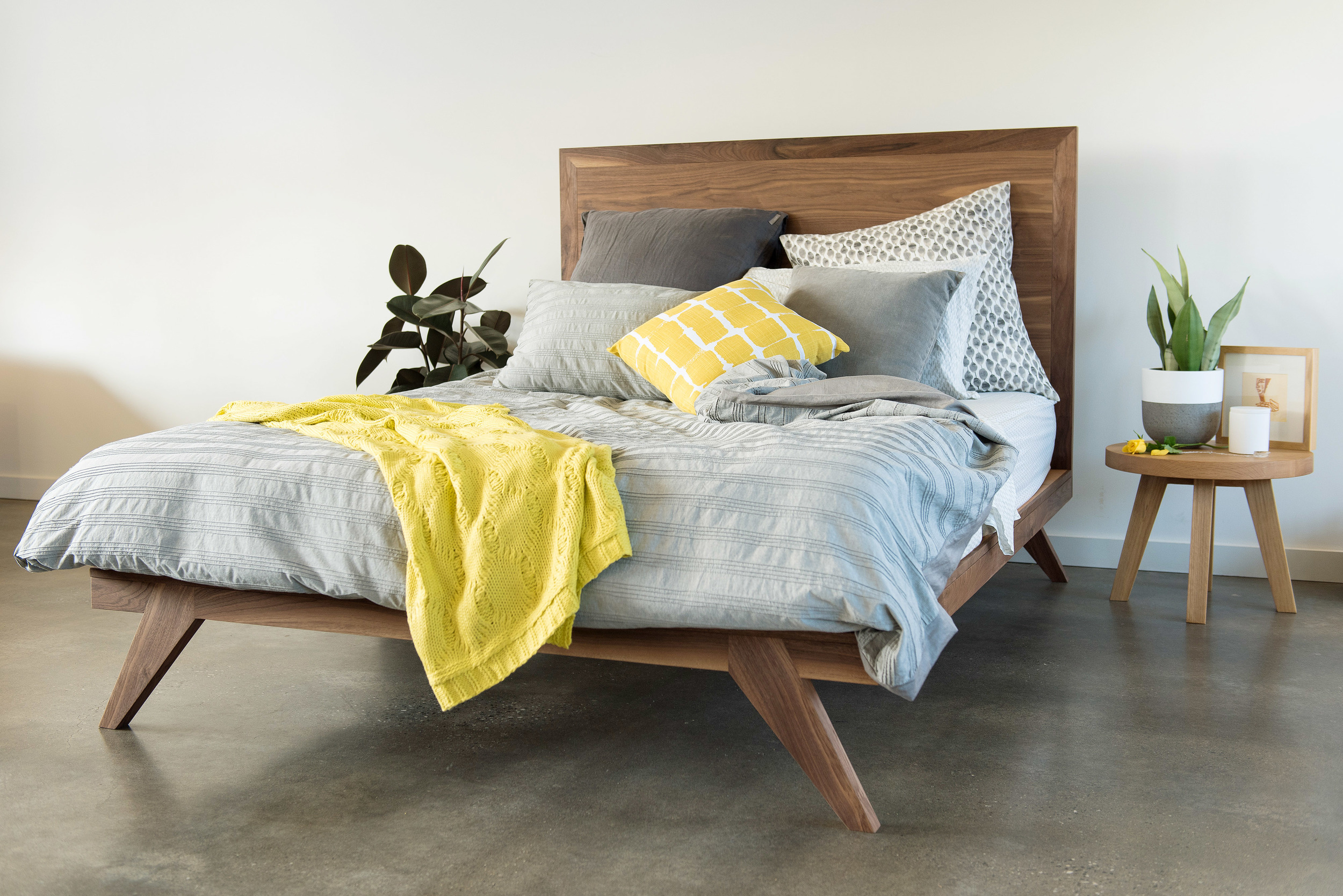 custom made timber bed