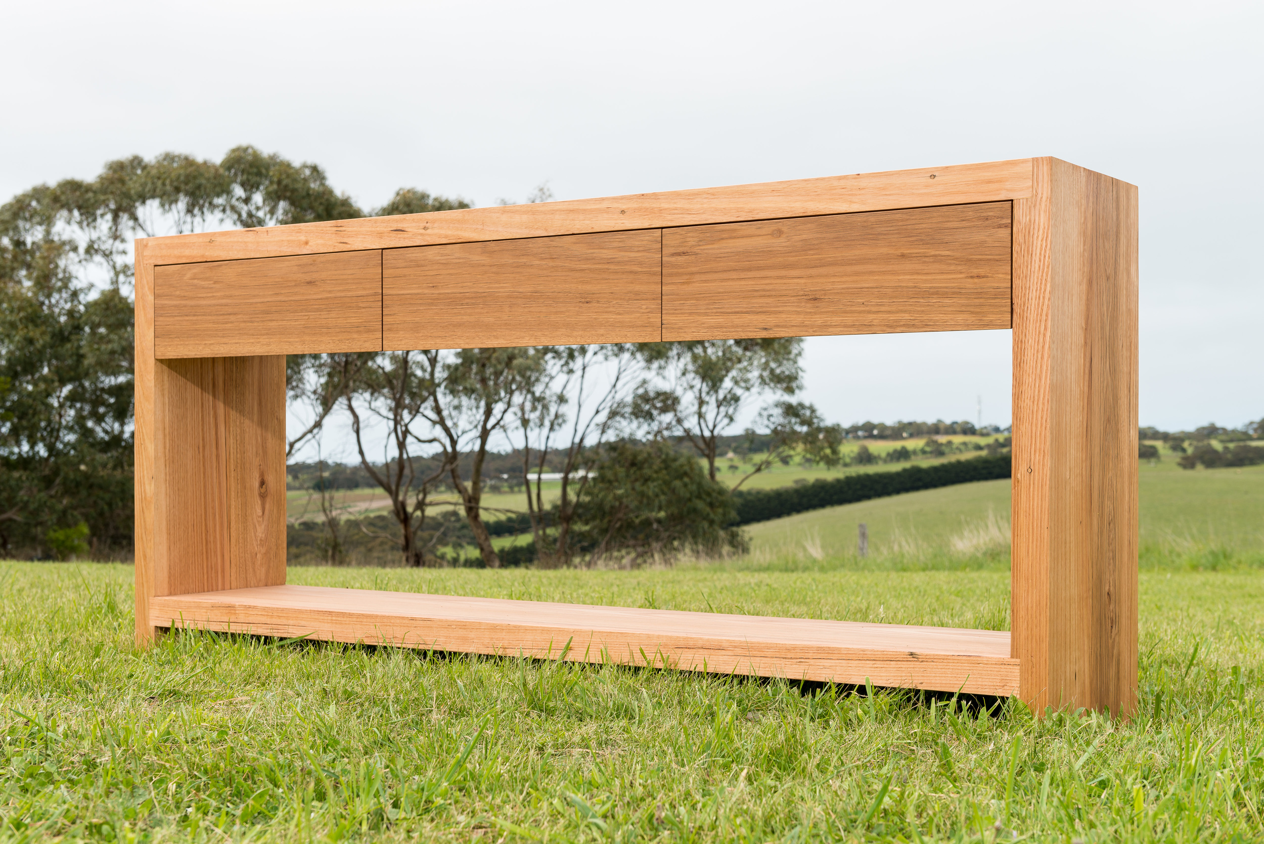 recycled messmate console table