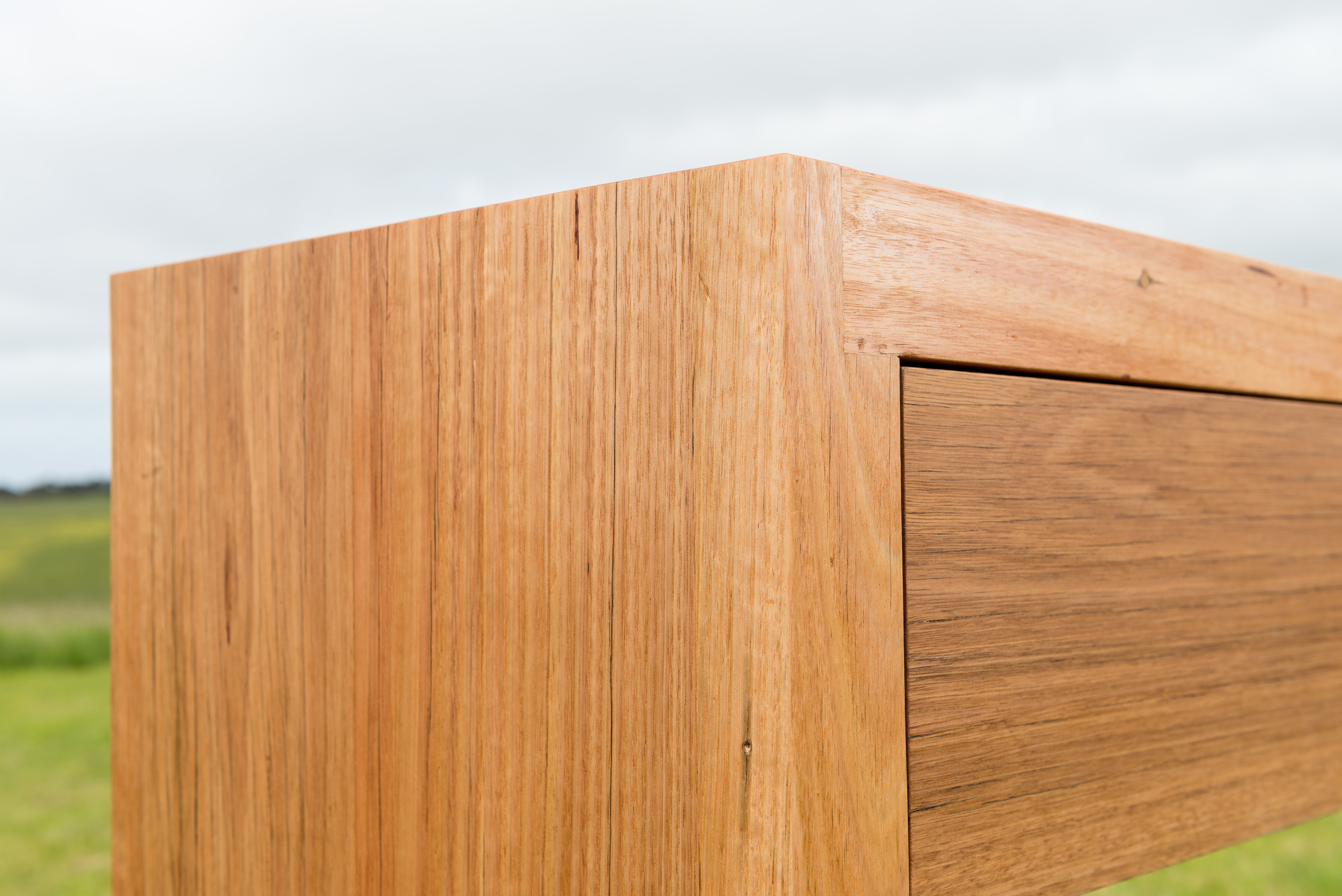 chunky timber sideboard
