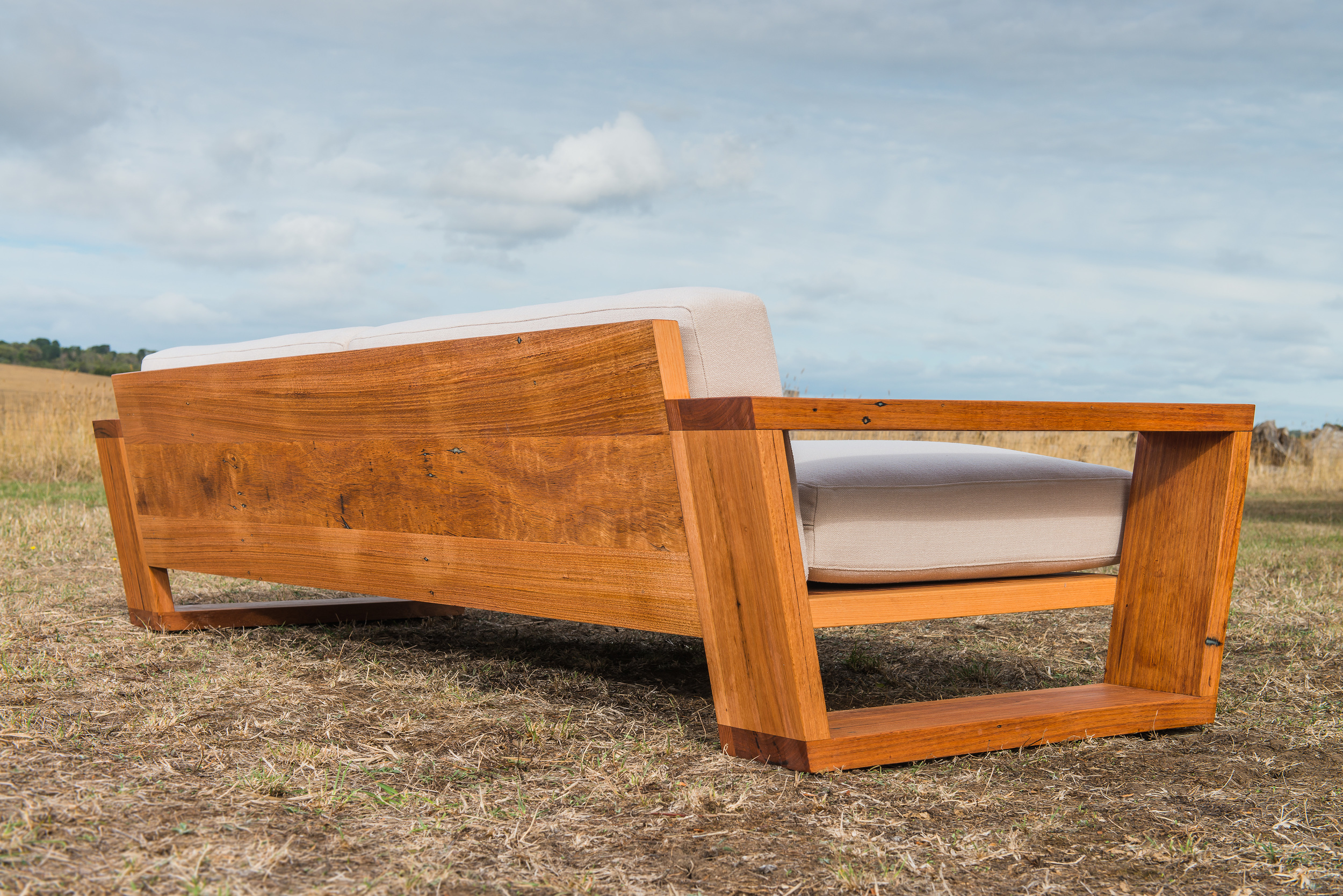 Point Lonsdale Exposed Recycled Timber Frame Couch
