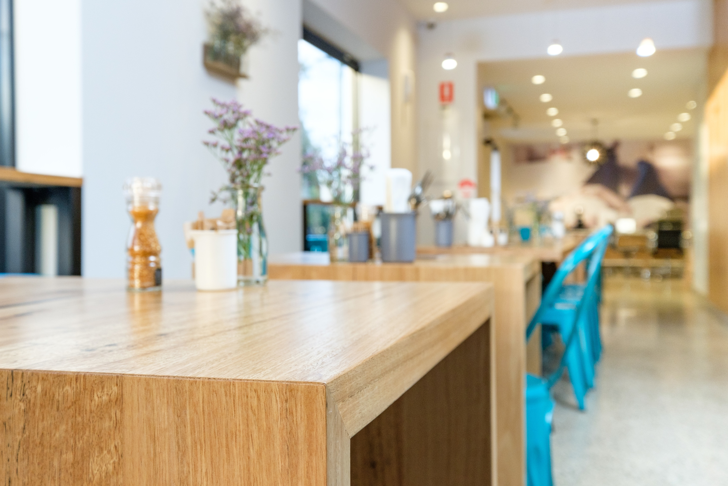 custom timber cafe tables