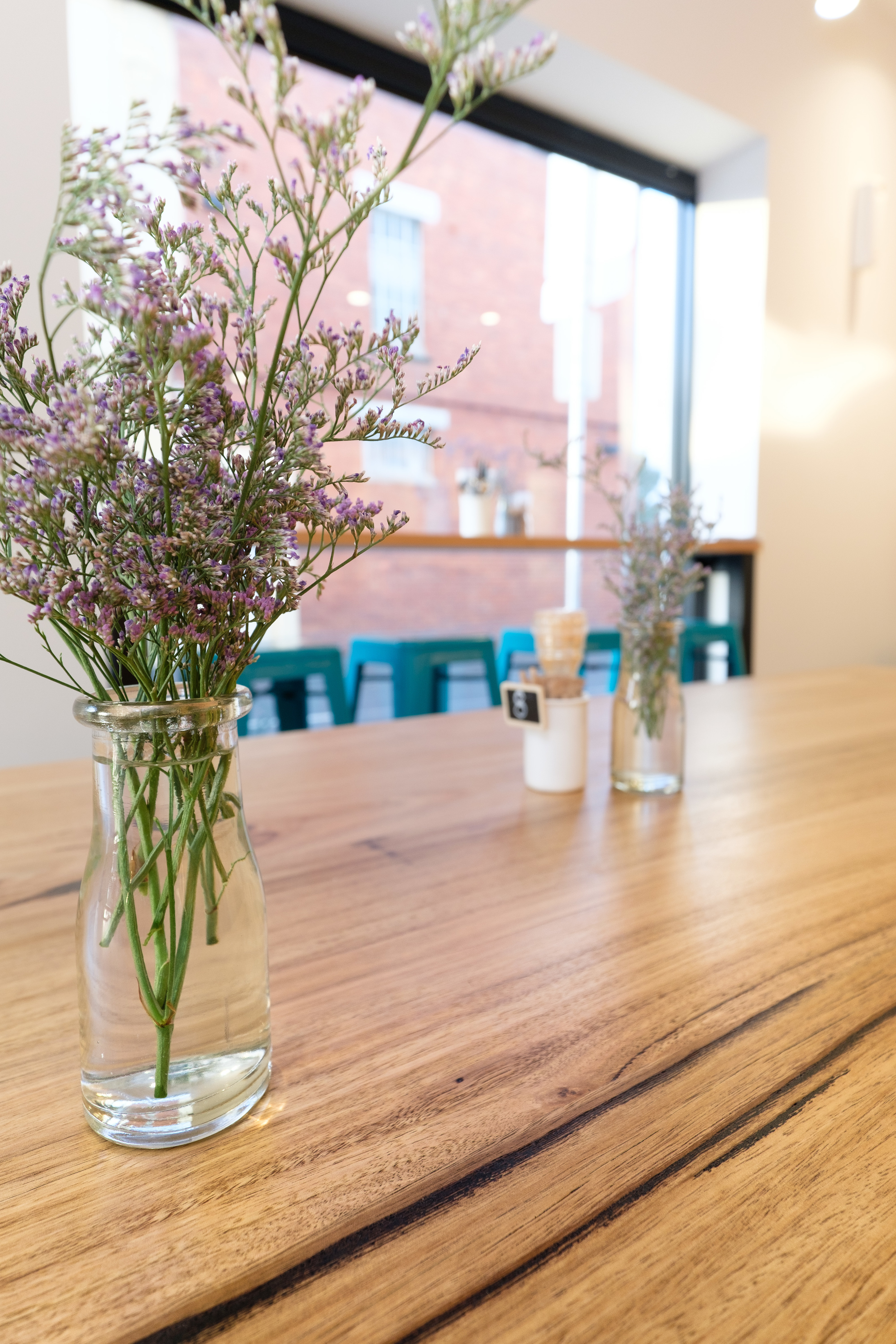wormy chestnut cafe communal table Geelong