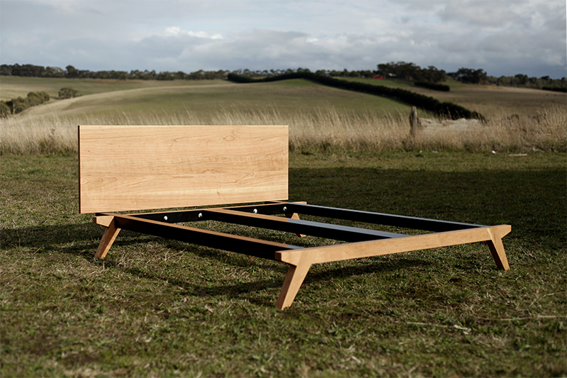 contemporary timber bed