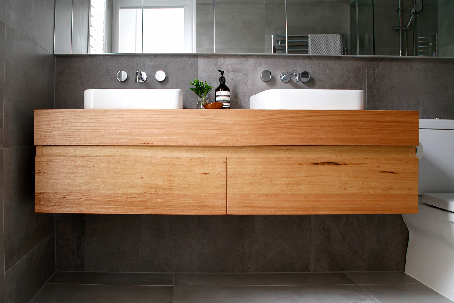 solid timber vanities