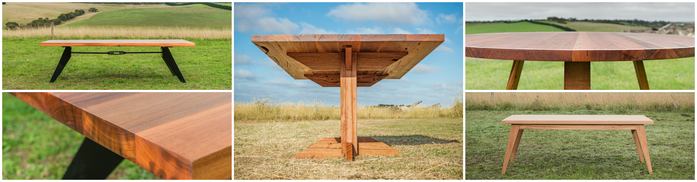 recycled timber dining tables