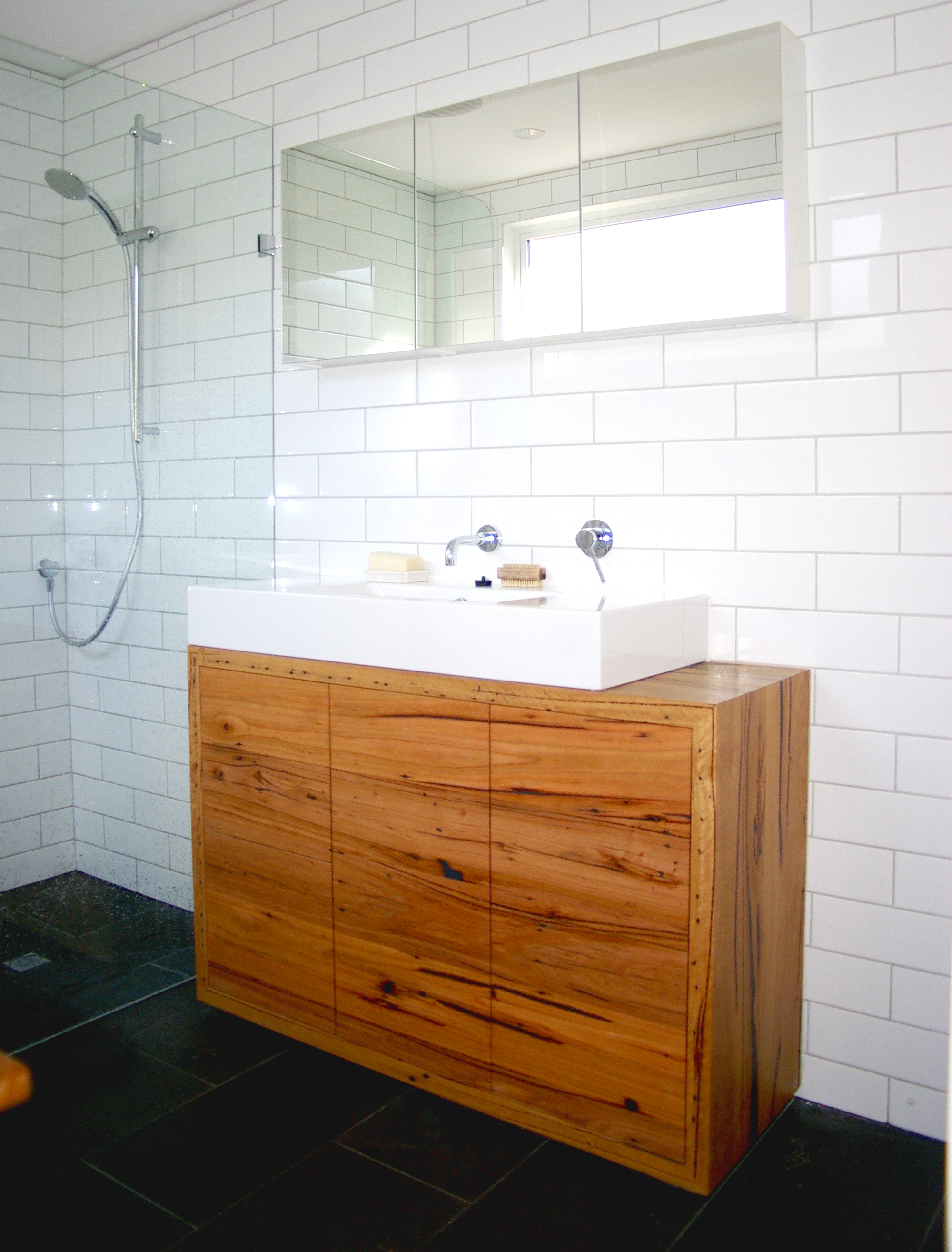 freestanding timber vanity