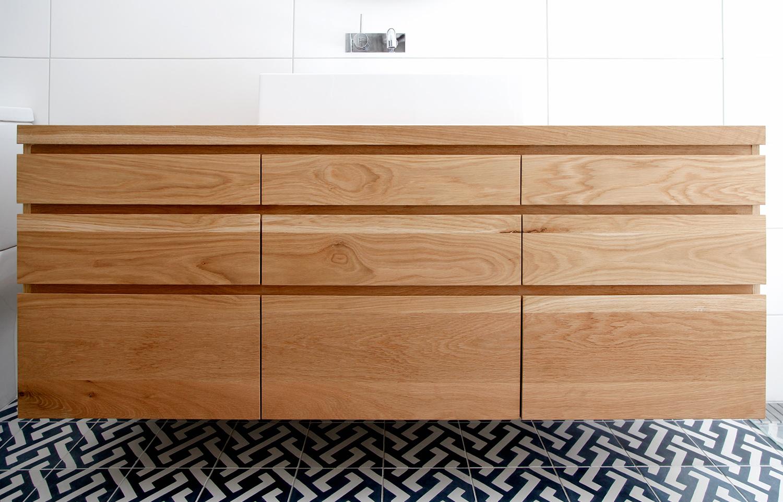 Floating bathroom vanity cabinet