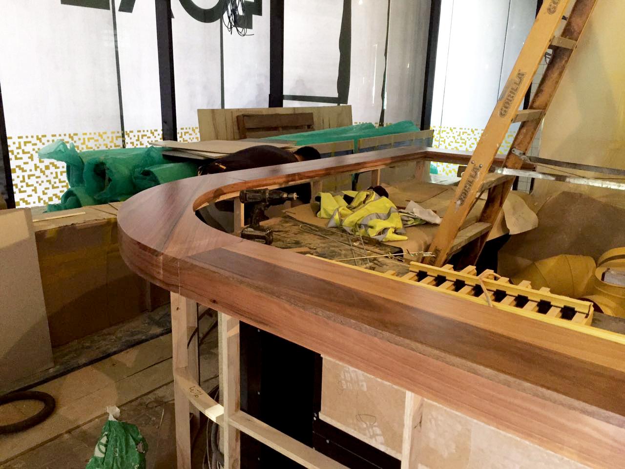 custom timber bench top