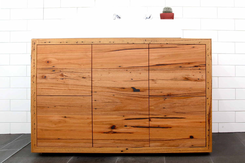 freestanding timber vanity