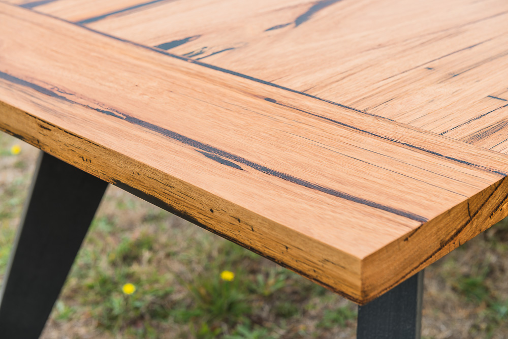 Recycled timber bench top
